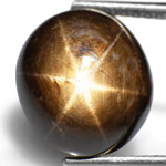 8.53-Carat Beautiful Golden-Black Star Sapphire (AIGS-Certified)