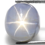 6.13-Carat Unheated Greyish Blue Star Sapphire from Burma