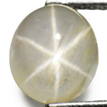 3.12-Carat Yellowish White Star Sapphire from Burma