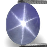 6.08-Carat Lovely Eye-Clean Blue Star Sapphire from Sri Lanka