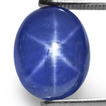 6.35-Carat Intense Cornflower Blue Star Sapphire from Mogok