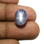 10.76-Carat Superb Blue Star Sapphire (Natural & Untreated)