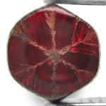 0.72-Carat Blood Red Trapiche Ruby from Mogok, Burma