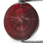 0.56-Carat Deep Pigeon Blood Red Burmese Trapiche Ruby