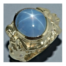 Ring mounted with a Ceylonese Blue Star Sapphire