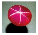 Asterism in a Star Ruby