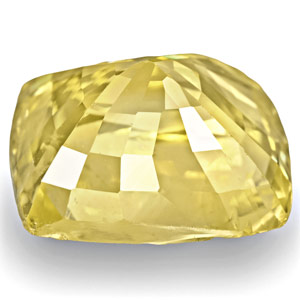 8.11-Carat IGI-Certified Unheated Cushion-Cut Yellow Sapphire - Click Image to Close