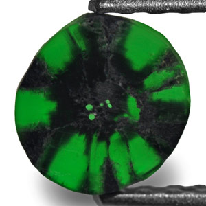 1.59-Carat Magnificent Pair of Colombian Trapiche Emeralds - Click Image to Close