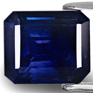 6.65-Carat GIA-Certified Dark Blue Sapphire from Kashmir Valley