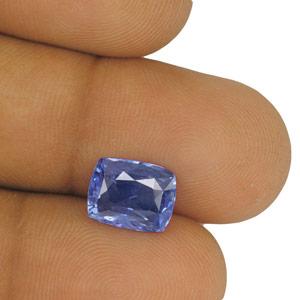 4 18 Carat Attractive Velvety Blue Kashmir Origin Sapphire