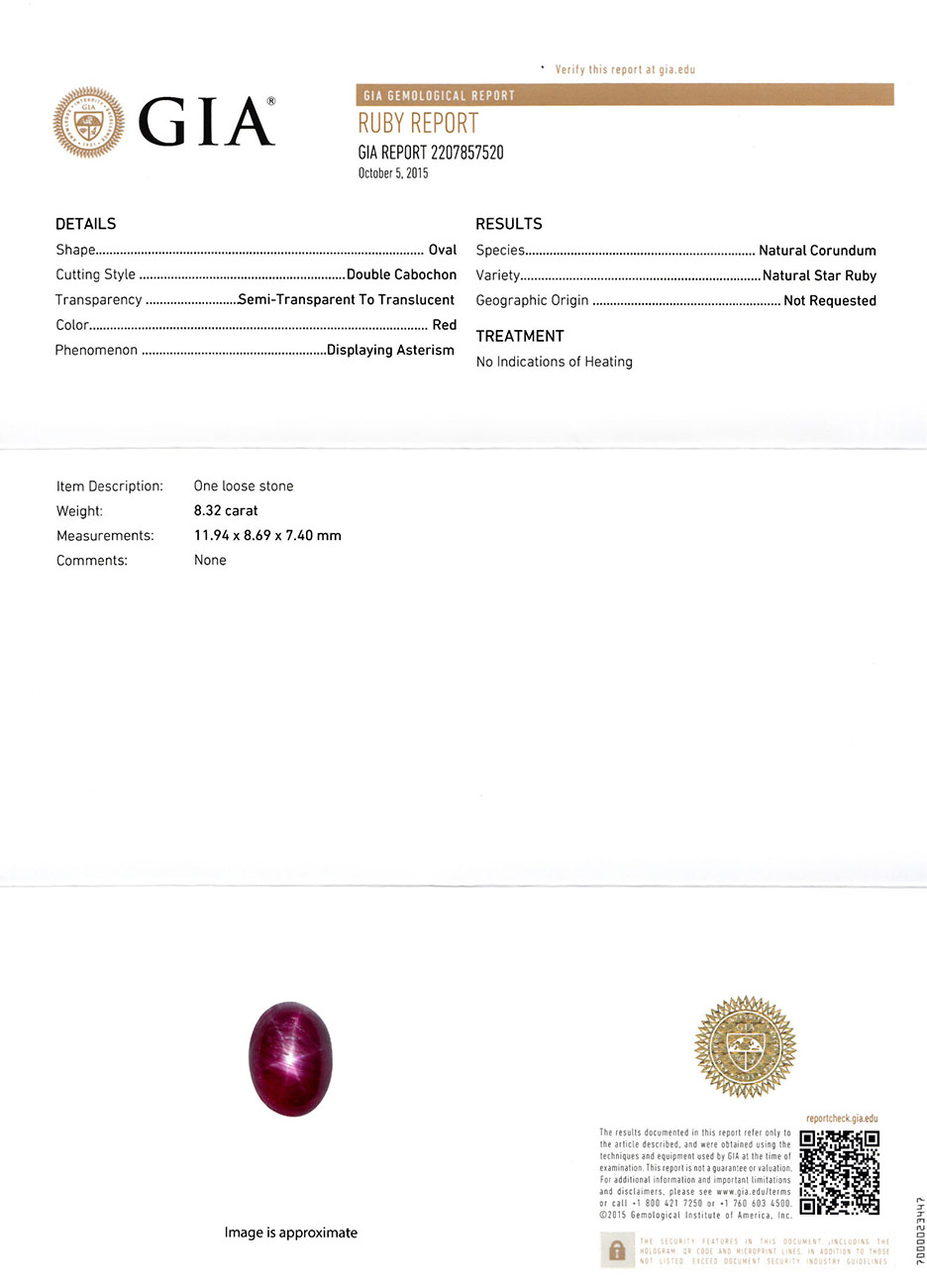 832 Carat Rich Magenta Red Star Ruby From Madagascar Gia