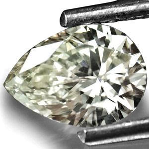 070 Carat HKD Certified SI1 M Pear Shaped Diamond