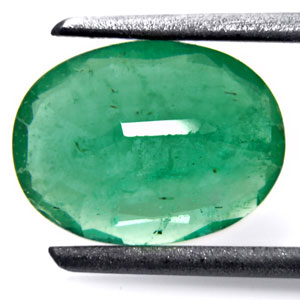 1.71-Carat Grass Green Zambian Emerald (Natural & Untreated) - Click Image to Close