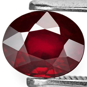 1 03 Carat Unheated Dark Red Ruby From Madagascar