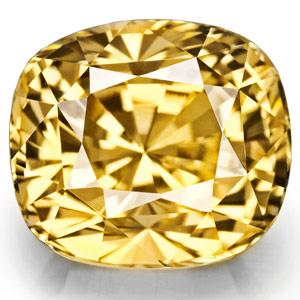 8.02-Carat Museum-Grade VVS Fiery Vivid Yellow Unheated Sapphire