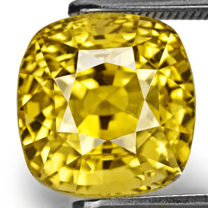 8.99-Carat Shimmering VVS Intense Yellow Sapphire (Unheated)
