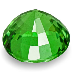 1.04-Carat 5.90mm Round Eye-Clean Electric Green Tsavorite - Click Image to Close