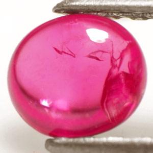 0 65 Carat Dark Pink Transparent Burmese Cabochon Ruby