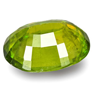 2.66-Carat Eye-Clean Intense Green Oval-Cut Sphene Titanite - Click Image to Close