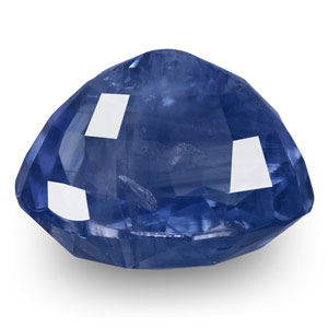 7.70-Carat Natural & Unheated Cornflower Blue Kashmir Sapphire - Click Image to Close