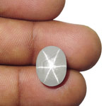 8.16-Carat Whitish Grey Ceylon Star Sapphire with Sharp Star