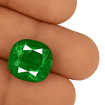 13.93-Carat Fiery Rich Vivid Green Eye-Clean Colombian Emerald
