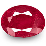2.23-Carat Unheated Velvety Pinkish Red Ruby from Mogok, Burma