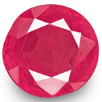 0.83-Carat Natural & Unheated Round-Cut Ruby from Mogok, Burma
