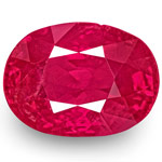 1.31-Carat Unheated Oval-Cut Pinkish Red Ruby from Mogok, Burma