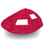 1.10-Carat Eye-Clean Rich Velvety Pinkish Red Ruby from Burma