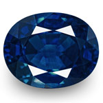 1.12-Carat Matching Pair of Unheated Oval Royal Blue Sapphires