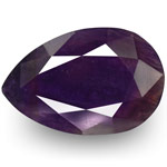 6.84-Carat Pear-Shaped Deep Bluish Purple Sapphire from Pakistan