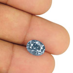 3.98-Carat Unheated Eye-Clean Lustrous Violetish Blue Sapphire