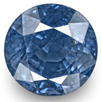 6.61-Carat 10mm Round Eye-Clean Intense Blue Burmese Sapphire