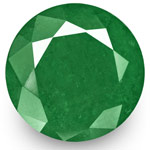 17.89-Carat 16mm Round Intense Green Emerald from Zambia