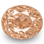 0.54-Carat GRS-Certified Unheated Oval-Cut Padparadscha Sapphire