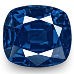 1.87-Carat Unheated Cushion-Cut Vivid Royal Blue Sapphire (GRS)
