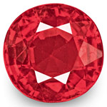 0.74-Carat Eye-Clean Intense Reddish Pink Spinel from Burma