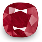 9.97-Carat Unheated Deep Red Cushion-Cut Burmese Ruby (GRS)