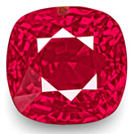 3.03-Carat Unheated Cushion-Cut Vivid Pinkish Red Ruby (GRS)