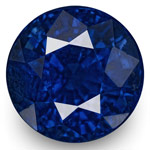 2.41-Carat 7mm Round Eye-Clean Royal Blue Sapphire (GIA)