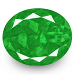 9.30-Carat Lustrous Intense Green Oval-Cut Colombian Emerald