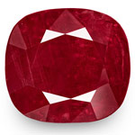 8.19-Carat Natural & Unheated Cushion-Cut Deep Red Burma Ruby