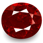 "2.03-Carat GRS-Certified Unheated Oval ""Pigeon Blood Red"" Ruby"