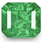 10.01-Carat Octagonal-Cut Lively Green Emerald from Colombia