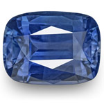 5.92-Carat GRS-Certified Unheated Velvety Intense Blue Sapphire