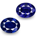 "2.26-Carat Pair of GRS-Certified Unheated ""Royal Blue"" Sapphires"