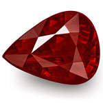 "3.00-Carat Rare VS-Clarity Pear-Shaped ""Pigeon Blood Red"" Ruby"