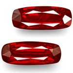 4.09-Carat Pair of Lovely GRS-Certified Pigeon Blood Red Rubies