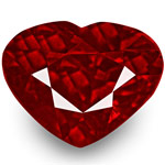 1.03-Carat Exceptional Heart-Shaped Pigeon Blood Red Ruby (GRS)